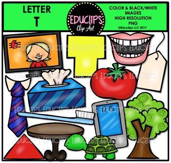 Letter T Clip Art Bundle {Educlips Clipart}