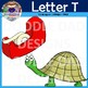 Letter T Clip Art (Tomato, Tee pee, Turtle, TV, Table, Tape)