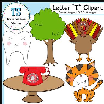 "Letter ""T"" Clipart Set {Tracy Sztanya Studios}"