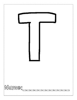 Letter T Color and Trace AlphaBook