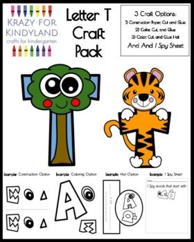 Letter T Craft Pack for Kindergarten