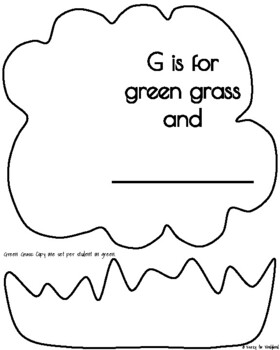 Letter G Craft: The Green Grass Goes All Around