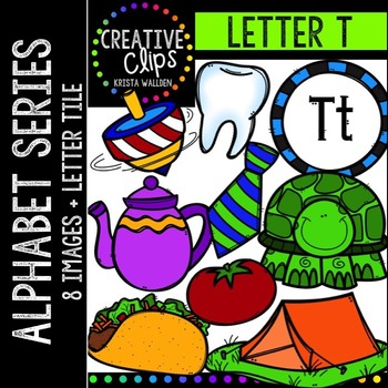 Letter T {Creative Clips Digital Clipart}