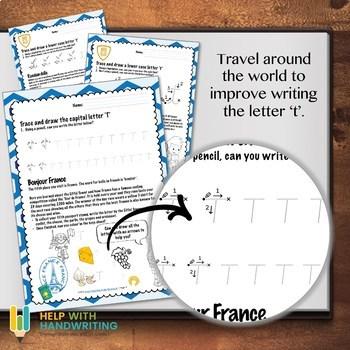 Letter T Cursive Handwriting