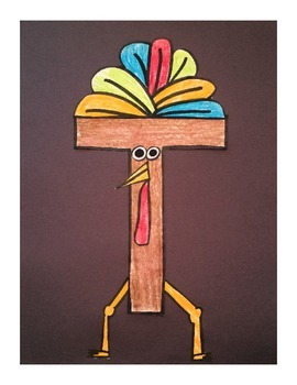 Letter T Cut/Paste Craft Template - T is for Turkey