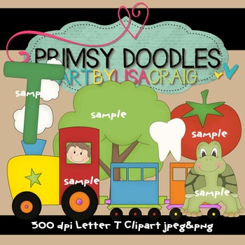 Letter T Early Learning Clipart