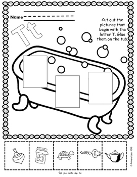 Letter T: Early Phonics Pack