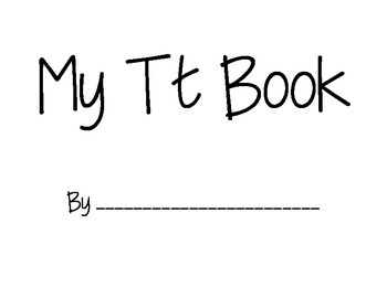Letter T Emergent Reader Book