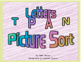 Letter T P A N Picture Sort Saxon Phonics