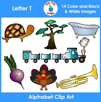 Letter T Phonics Clip Art Set