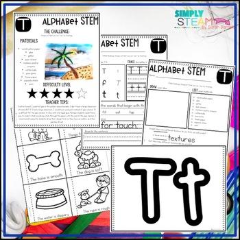 Letter T STEM Challenge | Letter T Activities