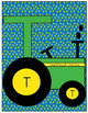 Letter T Turkey, Tractor Cut-out