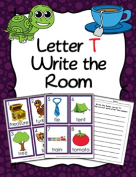Letter T Words Write the Room Activity