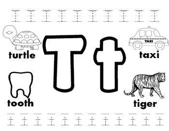 Letter T Worksheets By Kindergarten Swag