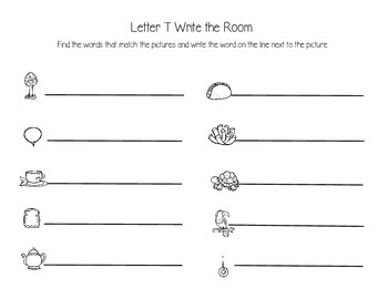 Letter T Write the Room