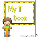 Letter T adapted book for Early childhood, Autism and Spec