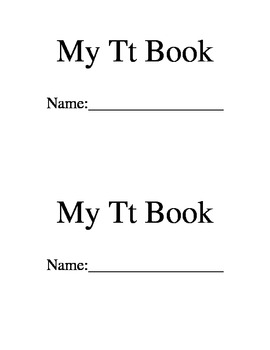 Letter T book