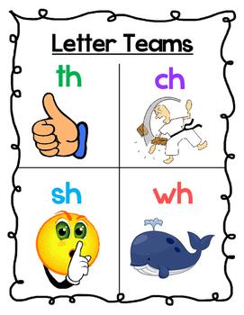 Letter Teams Poster