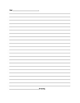 image relating to Blank Letter Template named Letter Template Blank