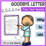 Student teacher goodbye letter teaching resources teachers pay letter template from teacher to students end of year goodbye thecheapjerseys