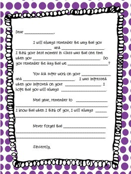 Letter template from teacher to students end of year goodbye tpt letter template from teacher to students end of year goodbye thecheapjerseys Image collections