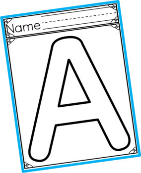 Letter Template Outlines Bundle ~ Lowercase and Uppercase Capital Letters