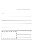 Letter Template with Labels