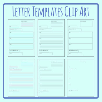 Letter Templates for Post, Mail, etc Blank Clip Art Set Commercial Use