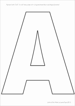 Insane image regarding letter a printable