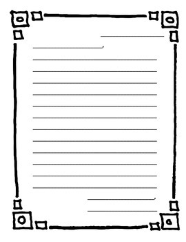 Letter Templates with Borders