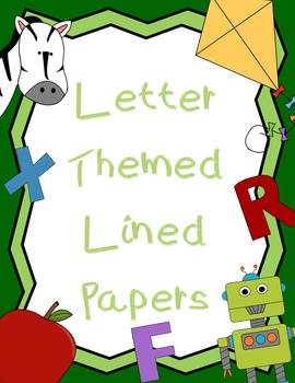 Letter Theme Lined Paper