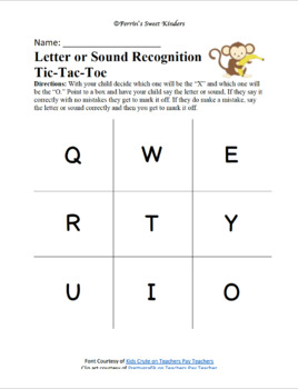 Letter Tic-Tac-Toe BUNDLE