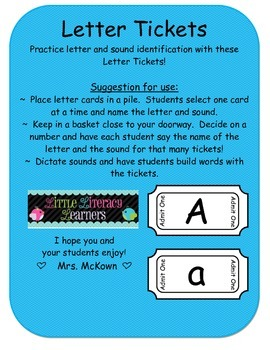 Letter Tickets
