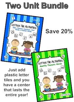Letter Tile Activities Bundle Pack