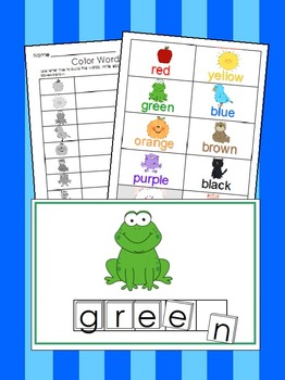 Letter Tile Activities Unit 1- ABC's, Phonemic Awareness, Colors & Numbers