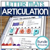 Letter Tile Magnetic Letter Speech Sound Mats BUNDLE