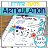 Letter Tile Magnetic Letter Speech Therapy Mats Articulation Early Sounds