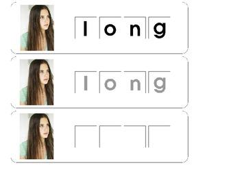 Letter Tile Mats: Types of Hair
