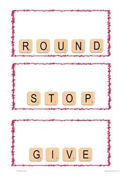 Letter Tile Sight Words 1st Grade Templates