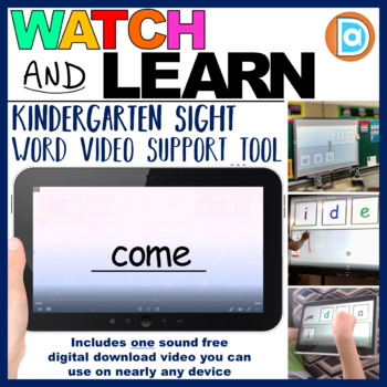 Letter Tile Sight Word Builder Video | 1st Grade | Come