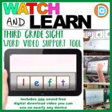 Letter Tile Sight Word Builder Video   3rd Grade   Left