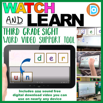 Letter Tile Sight Word Builder Video | 3rd Grade | Under