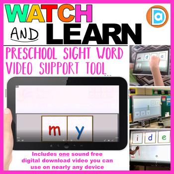 Letter Tile Sight Word Builder Video | Kindergarten and 1st Grade | My