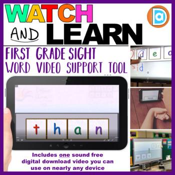 Letter Tile Sight Word Builder Video | Kindergarten and 1st Grade | Than