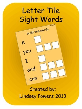 Letter Tile Sight Words