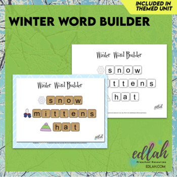 Letter Tile Word Building-Winter