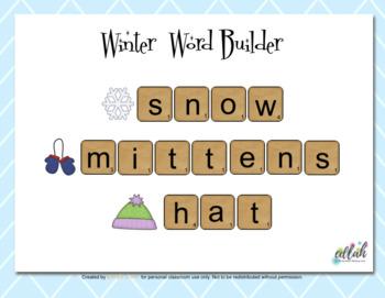 Letter Tile Word Building - Winter