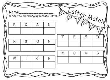 Letter Tile Word Work 1