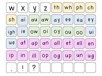 Letter Tile Word Work Centers