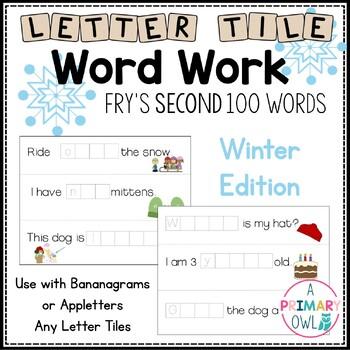 Letter Tile Word Work: Winter Version